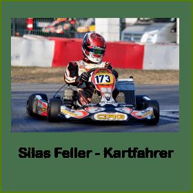 Kartfahrer Silas Feller